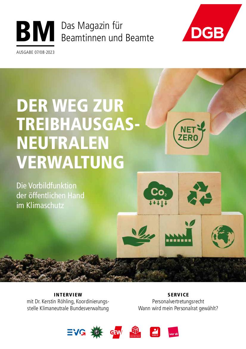 BM DGB-Magazin für Beamtinnen und Beamte