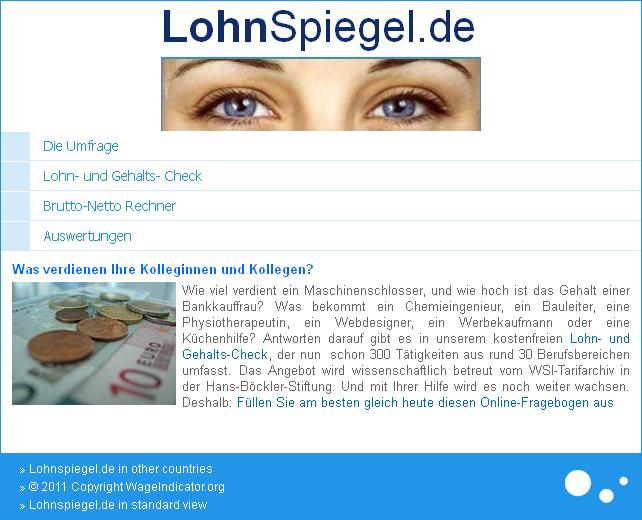 Screenshot http://m.lohnspiegel.de