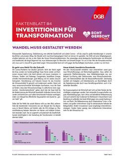 Investitionen für Transformation