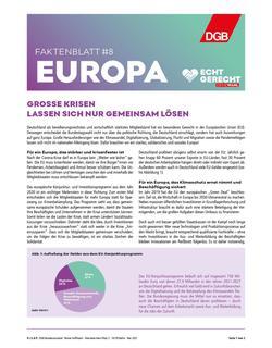 Faktenblatt Europa