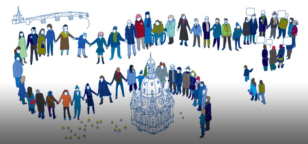 Motiv Menschenkette 2017