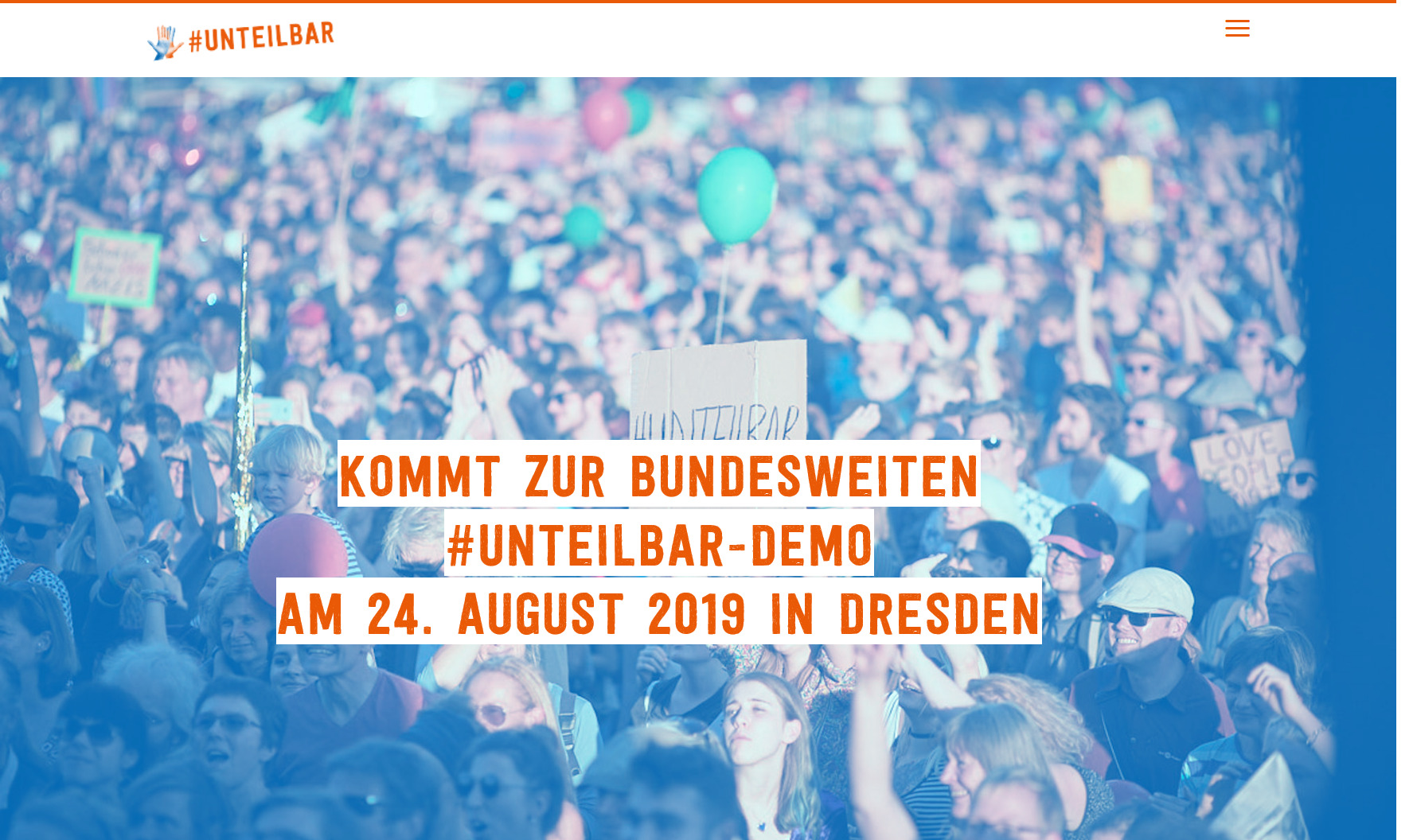 #unteilbar: Demo im Herbst 2018 in Berlin