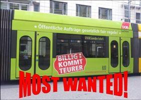 Foto Kampagnenstraßenbahn