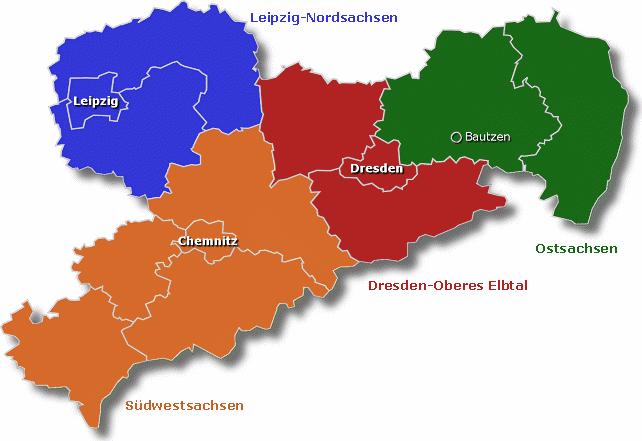 Leipzig Karte Sachsen.Dgb Bezirk Sachsen Regionsgeschaftsstellen