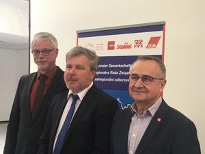 Neuer IGR-Vorstand: Markus Schlimbach (Sachsen), Josef Slunecka (Tschechien), Andrzej Otreba (Polen)