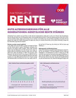 Faktenblatt 1 Rente