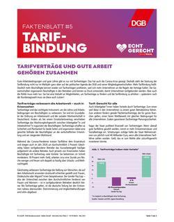 Faktenblatt Tarifbindung
