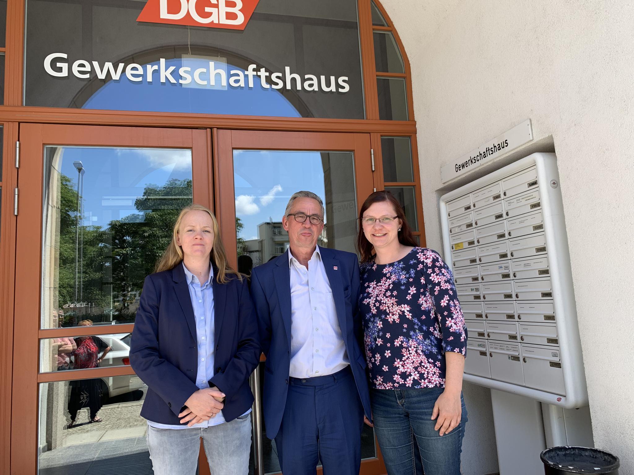 Anne Neuendorf, Wolfgang Lemb und Dana Dubil