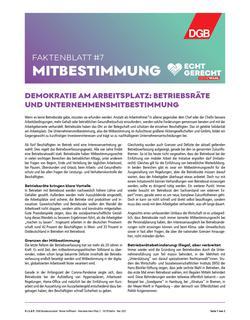 Faktenblatt Mitbestimmung