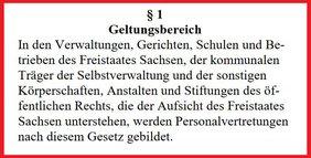 Text § 1 SächsPersVG