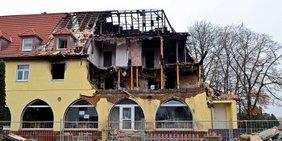 """das von dem """"Nationalsozialistischen Untergrund"""" bewohnte und in Brand gesteckte Haus in Zwickau"""