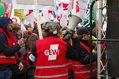 Teilnehmer*innen auf der Kundgebung in Chemnitz