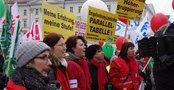 Teilnehmer*innen der Kundgebung in Leipzig
